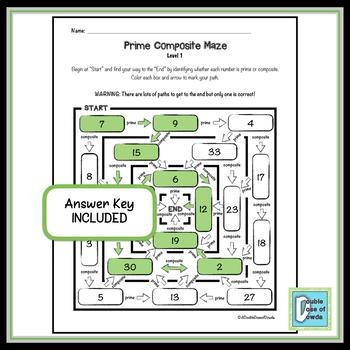 Prime Composite Easy Maze