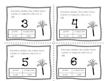 Prime-Composite-Even-Odd Task Cards VA SOL 5.3a,b