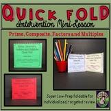 Prime Composite Factors Multiples Foldable Intervention Mi