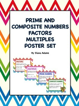 Prime and Composite Numbers Posters