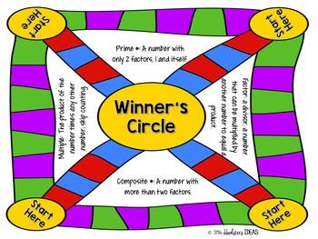 Prime, Composite, Factors, & Multiples board game