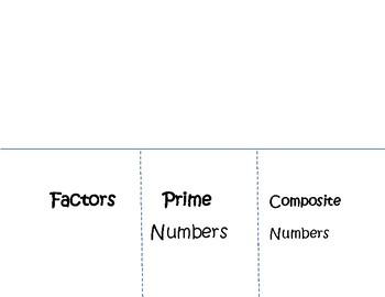 Prime/Composite Foldable