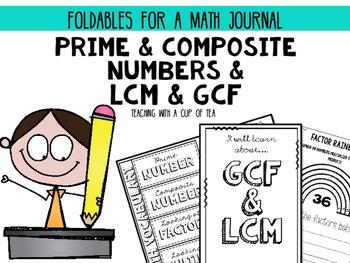 Prime, Composite, GCF & LCM {Foldables for a Math Journal}