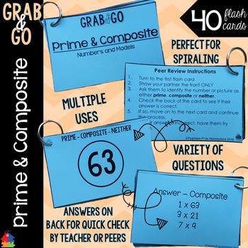 Prime & Composite Grab & Go Flash Cards