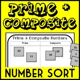 Prime & Composite Number Sort, Includes 10 Rounds, 4.OA.4