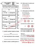 Prime & Composite Numbers Activity / Quiz CCSS & DoDEA CCRM Aligned