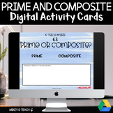 Prime and Composite Numbers Digital Task Cards