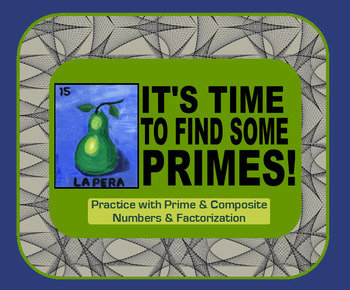 Prime & Composite Numbers - Factorization Vocabulary & Practice