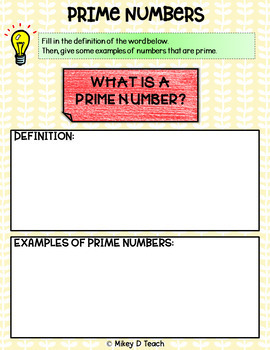 Prime & Composite Numbers Interactive Flip Book for Google Slides