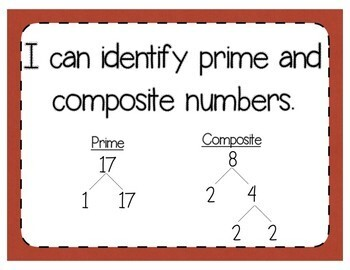 Prime & Composite Numbers Interactive Notebook Activity & Quick Check TEKS 5.4A