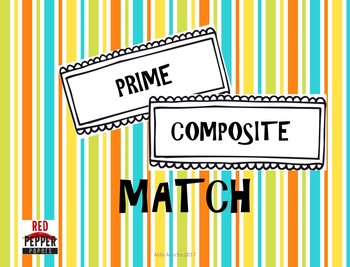 Prime & Composite Numbers Match