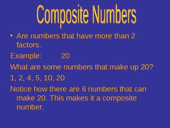Prime & Composite Numbers Power Point