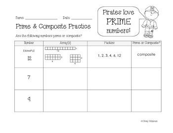 Prime & Composite Numbers Practice