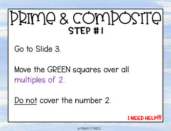 Prime & Composite Numbers Puzzle for Google Slides