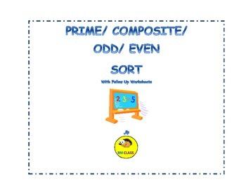Prime Composite Odd Even Sort