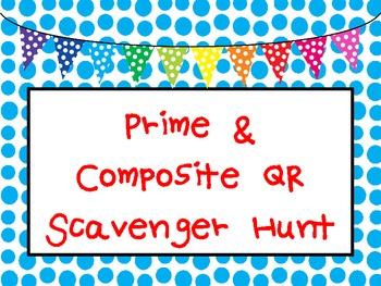 Prime & Composite QR Code Scavenger Hunt