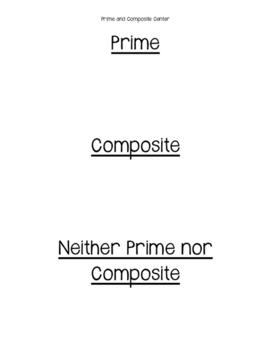 Prime Composite Sort
