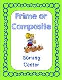 Prime & Composite Sorting Center Game (VA SOL Math 5.3)