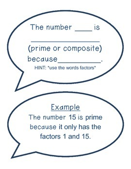 Prime & Composite Sorting Center Game (VA SOL Math 5.3)