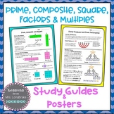 Prime, Composite, Square, Factors and Multiples Posters an