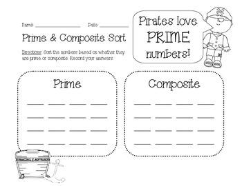 Prime & Composite Treasure Sort