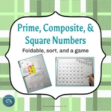 Prime, Composite, and Square Numbers