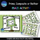 Prime, Composite or Neither Maze