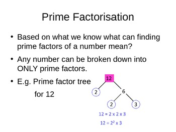 Prime, Factor, Multiples, Square Numbers and Prime Factors