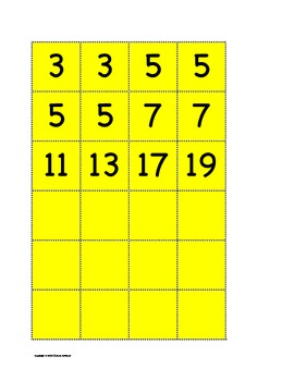 Prime Factor Tiles for CCPS Math 6 Number Sense