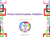 Prime Factorisation Foldable - Editable