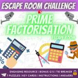 Prime Factorisation Math Escape Room Challenge