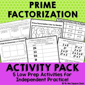 Prime Factorization Activities
