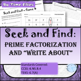 Prime Factorization Activity