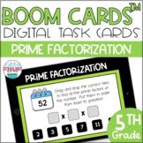 Prime Factorization BOOM CARDS™ Digital Task Cards
