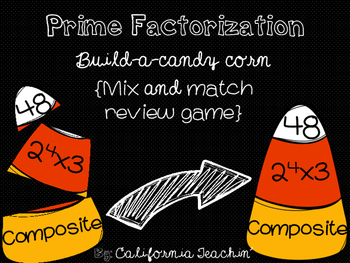 {Halloween} Prime Factorization Build-A-Candy-Corn Mix and Match Review Game