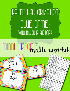 Prime Factorization Clue Game