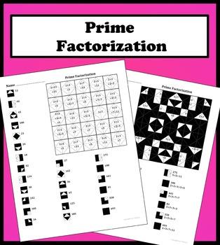 Prime Factorization Color Worksheet
