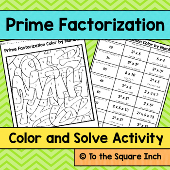 Prime Factorization Color and Solve