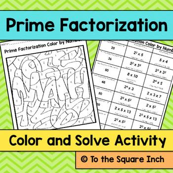 Prime Factorization Color and Solve