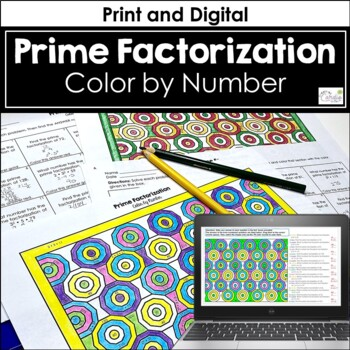 Prime Factorization Color by Number