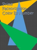 Prime Factorization Color by numbers