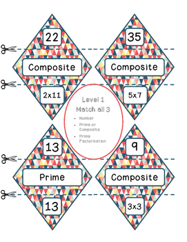 Prime  Factorization Diamond Match Game