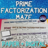 Prime Factorization Digital Activity (Maze)