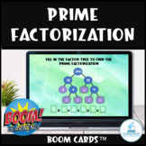 Prime Factorization Digital Task Cards