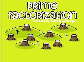 Prime Factorization Flipchart : FREEBIE