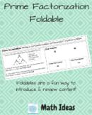 Prime Factorization Foldable