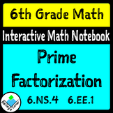 Prime Factorization Foldable for Interactive Notebook