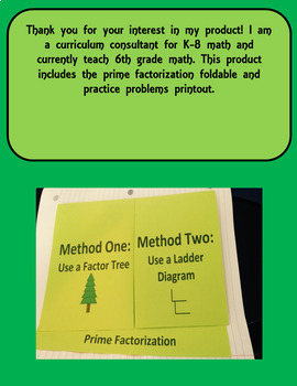 Prime factor ladder diagram math wiring prime factorization foldable for interactive notebook by baileys corner prime factor ladder diagram math ccuart Choice Image