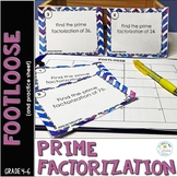 Prime Factorization Task Cards - Footloose Math Game with