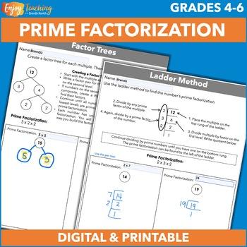 Prime Factorization Freebie by Brenda Kovich | Teachers Pay Teachers